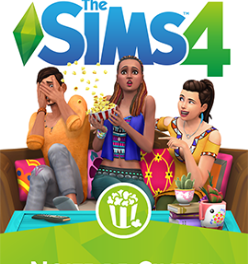 The Sims 4 Movie Hangout Stuff Box Art (Portuguese)