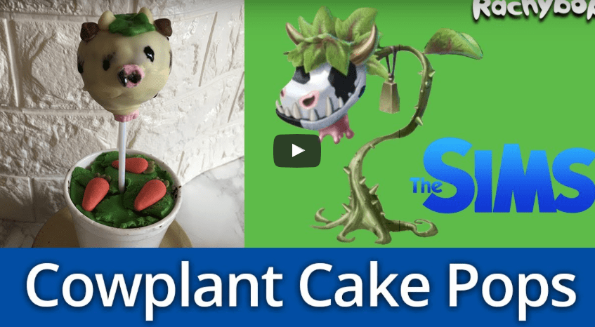 Create Your Own Sims-Inspired, Cowplant Cake Pops