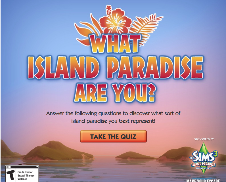 What Island Paradise Are You? Quiz
