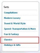 set menu classics