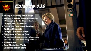 Hillary Clinton's Subway Error Page & Google Play Podcasts