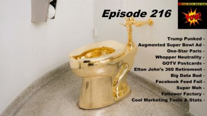 Beyond Social Media - Trump Gold Toilet - Episode 216