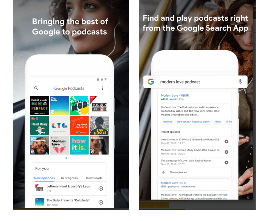 New Google Podcast App for Android