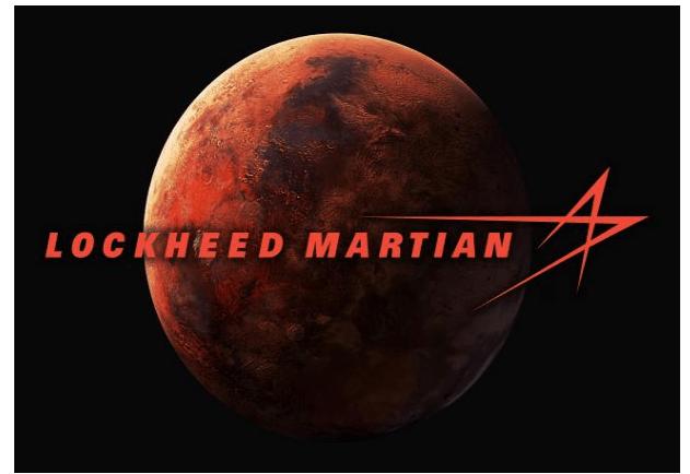 Lockheed-Martin changed its logo to Lockeed-Martian to celebrate Mars landing