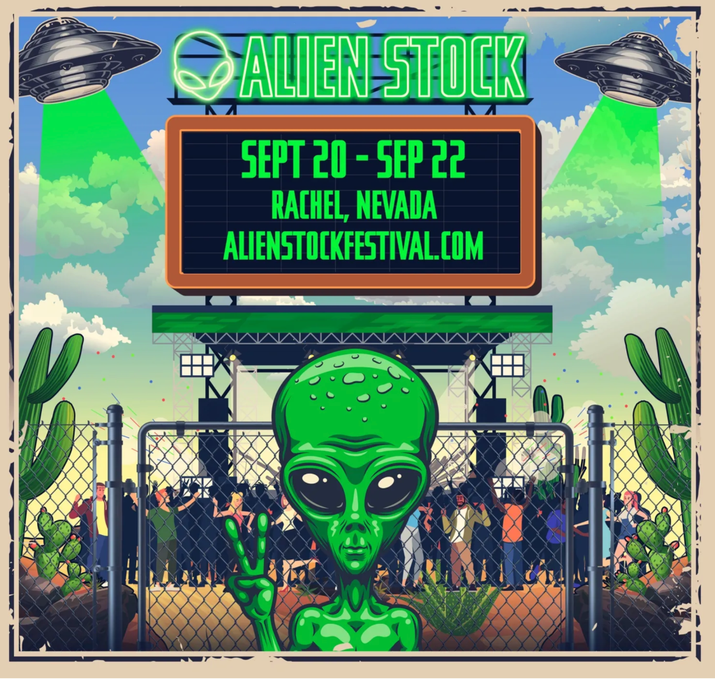 Poster for AlienStock Festival near Area 51.
