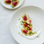Orange blossom yogurt with figs and pistachios