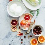 Burrata blood orange and fennel salad