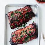 Grilled Vietnamese lemongrass pork ribs