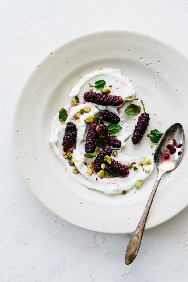 mulberry mint yogurt
