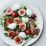 Fig tomato arugula salad