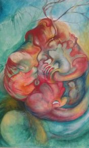 Heart I. Oil on canvas. (SOLD)