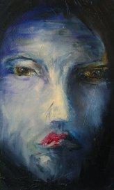 BlankMan. Oil on canvas.