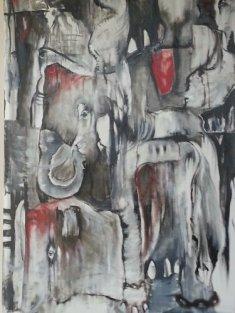 """Circus Dead24""""x36""""Oil on Canvas."""