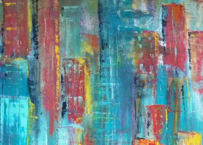"""China I16"""" x 20""""Oil on canvas board. (SOLD)"""