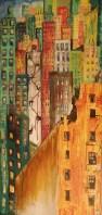 "Broken Window Theory no. 2 24"" x 48"" Oil on canvas. By Cat Jones"