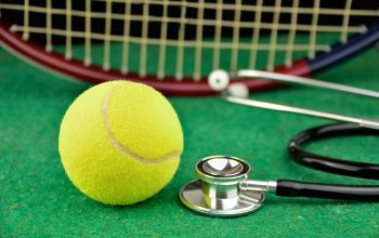 tennis ball, racquet and stethoscope