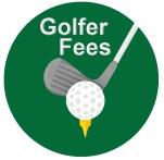 golf fee sign