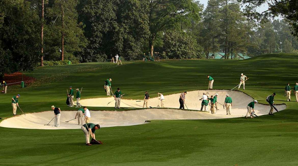 When Was The Last Time You Saw A Golf Pro Sweep A Bunker?