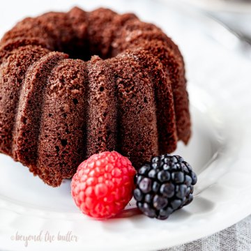 Mini Bundt Chocolate Pound Cakes | All Images © Beyond the Butter, LLC