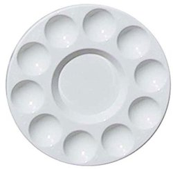YUYUE Round Painting Palette Professional Plastic Paint Tray