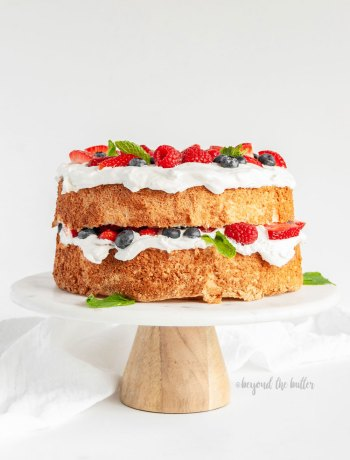 Homemade Angel Food Cake with Berries | All images © Beyond the Butter, LLC