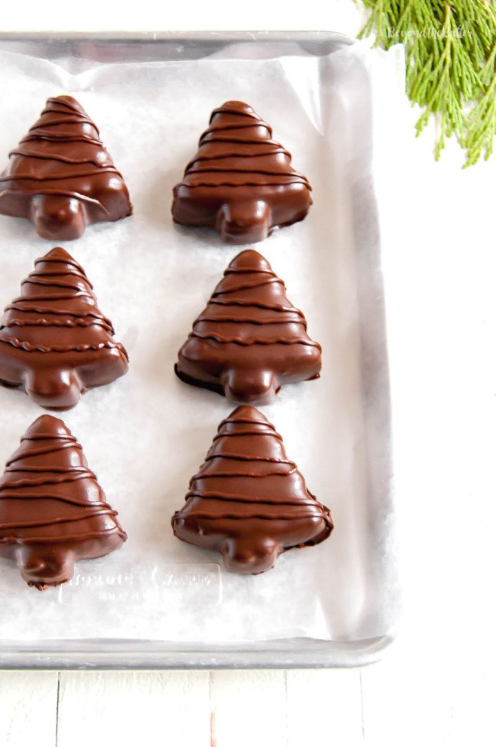 Chocolate Covered Peanut Butter Christmas Trees | All Images © Beyond the Butter, LLC
