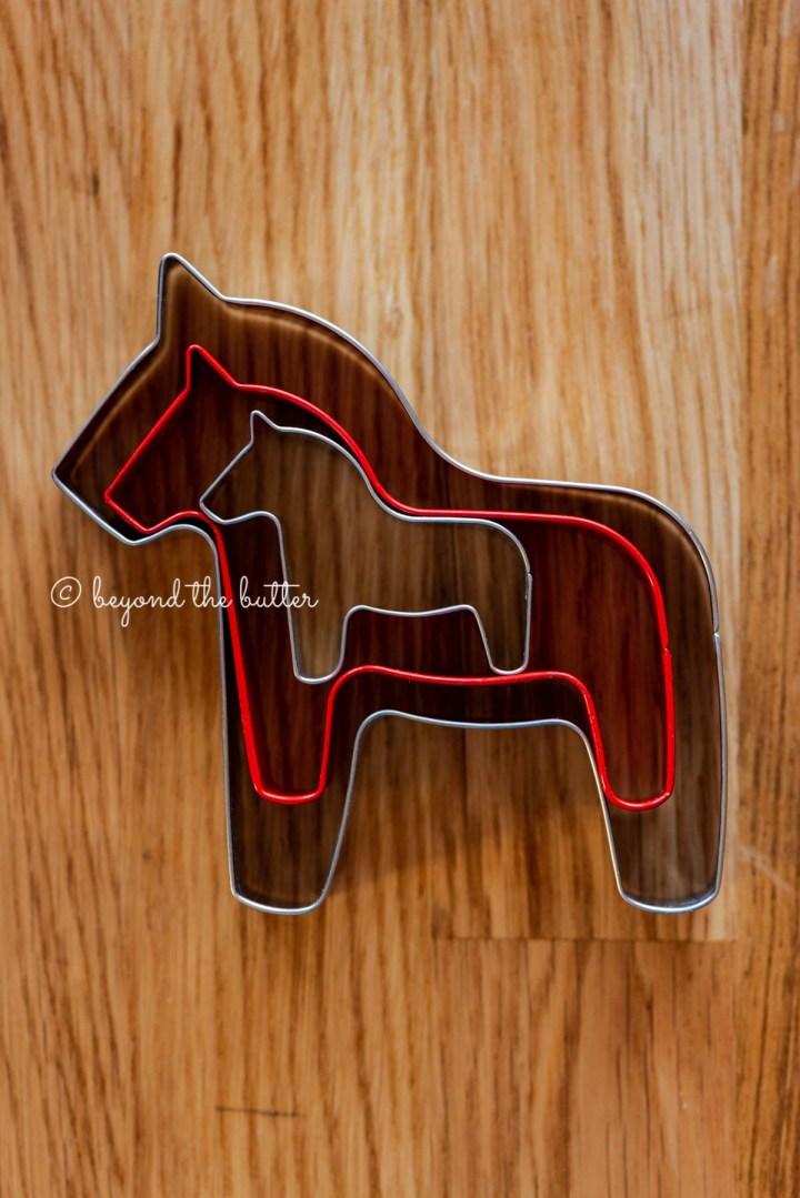 Dala horse cookie cutters | All Images © Beyond the Butter®