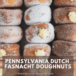 Pennsylvania Dutch Fasnacht Doughnuts | Overhead photo of three rows of Pennsylvania Dutch Fasnacht Doughnuts | Image and Copyright Policy: © Beyond the Butter, LLC