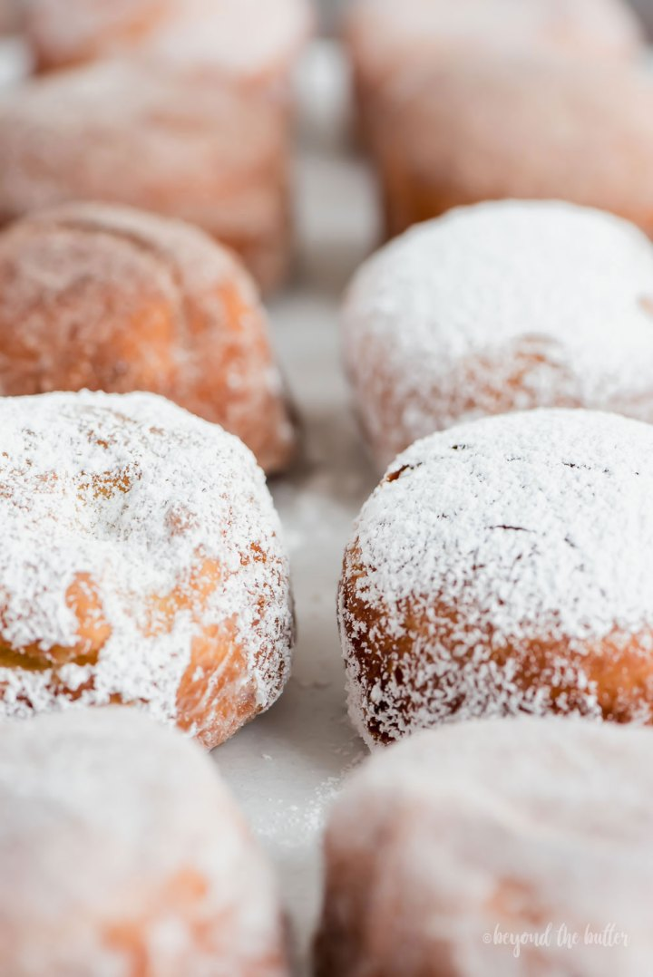 Pennsylvania Dutch Fasnacht Doughnuts | Close up angled photo of Pennsylvania Dutch Fasnacht Doughnuts | Image and Copyright Policy: Beyond the Butter, LLC