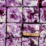 Blueberry Swirl Cheesecake Bars | All images © Beyond the Butter, LLC