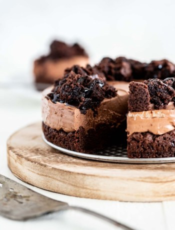 Easy Chocolate Brownie Cheesecake recipe | All Images © Beyond the Butter, LLC