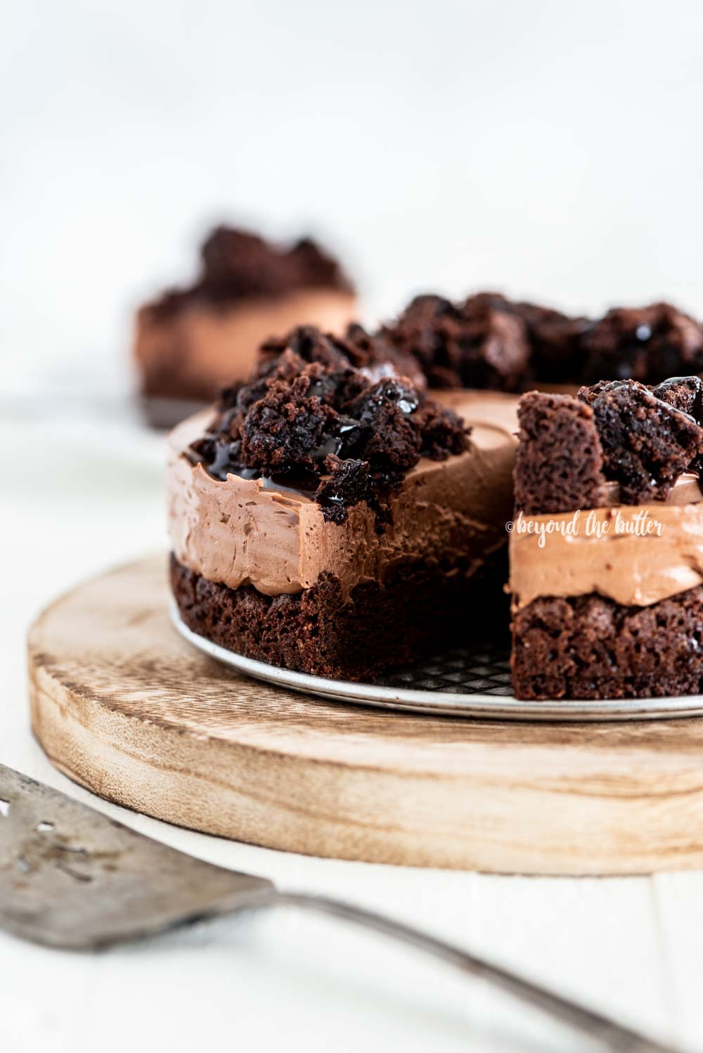 Easy Chocolate Brownie Cheesecake recipe   All Images © Beyond the Butter, LLC