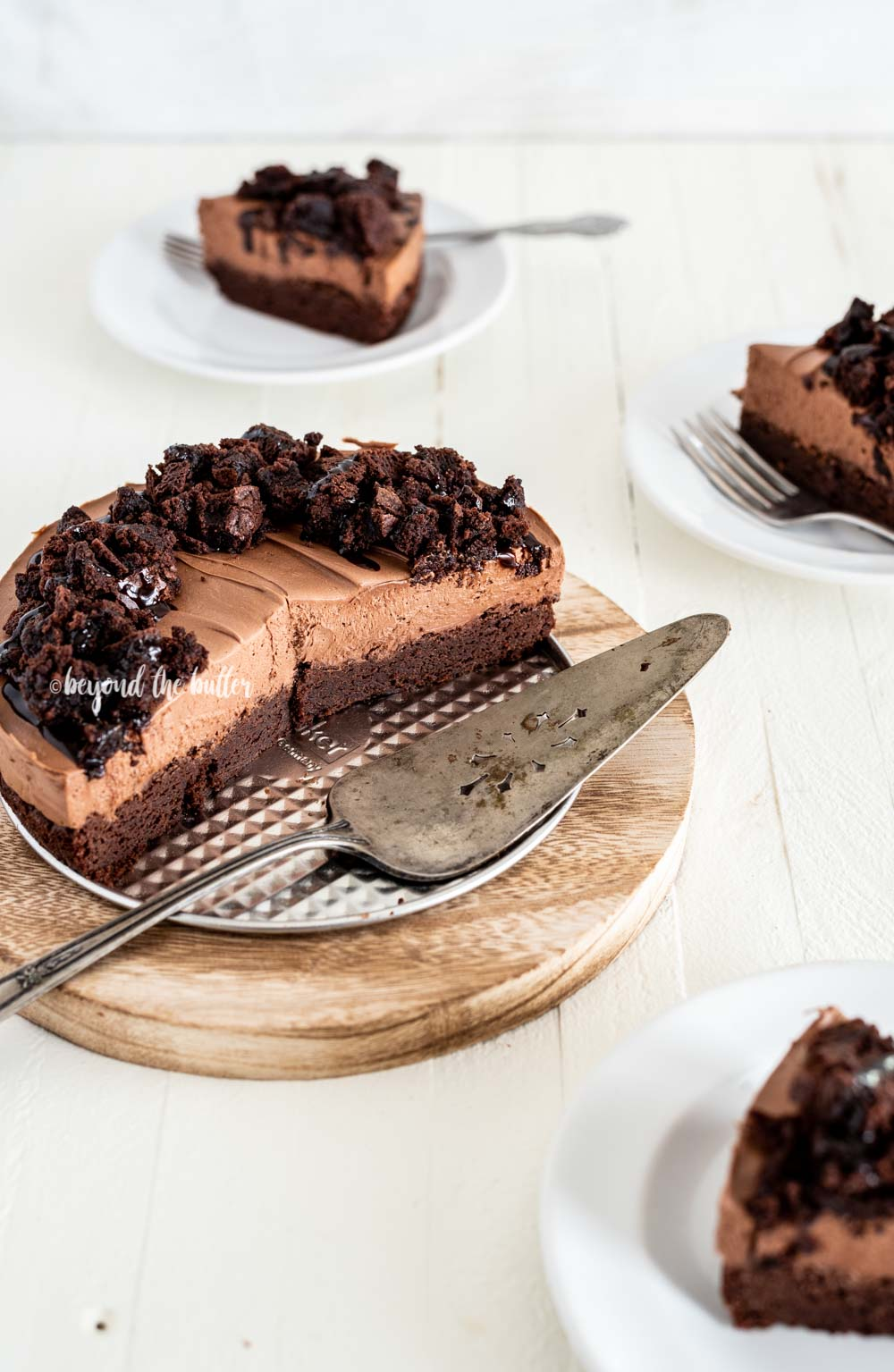 Chocolate Brownie Cheesecake recipe   All Images © Beyond the Butter, LLC
