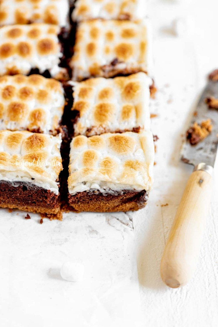 Layered S'mores Brownies | All Images © Beyond the Butter, LLC