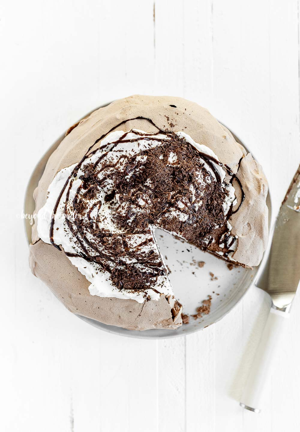 Chocolate Meringue Layer Cake recipe   All Images © Beyond the Butter, LLC