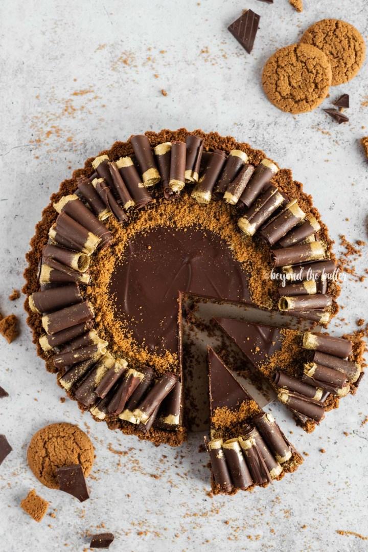 Dark Chocolate Gingersnap Tart recipe | All Images © Beyond the Butter, LLC