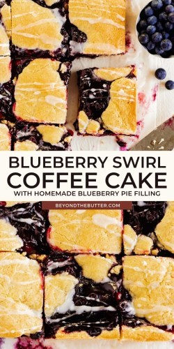 Pinterest images of blueberry swirl coffee cake from BeyondtheButter.com | All images © Beyond the Butter®