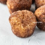Angled image of cinnamon sugar french breakfast puffs on a white background | All Images © Beyond the Butter™