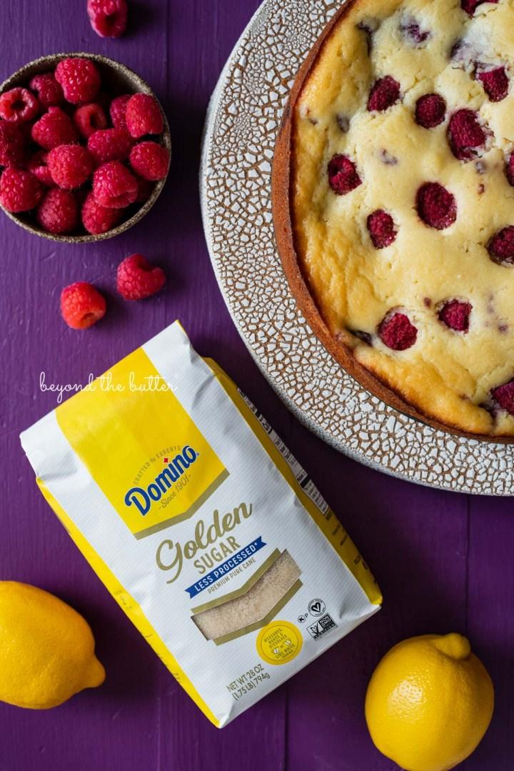 Lemon raspberry ricotta cake made with Domino® Golden Sugar | © Beyond the Butter®