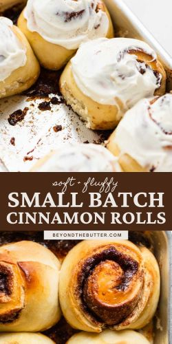 Images of small batch cinnamon rolls from BeyondtheButter.com | © Beyond the Butter®