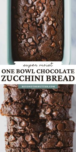 Images of one bowl chocolate zucchini bread from BeyondtheButter.com | © Beyond the Butter®