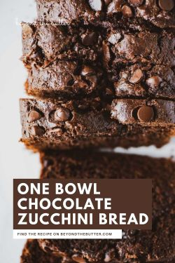 Image of one bowl chocolate zucchini bread from BeyondtheButter.com | © Beyond the Butter®