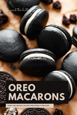 Image of oreo macarons from BeyondtheButter.com | © Beyond the Butter®