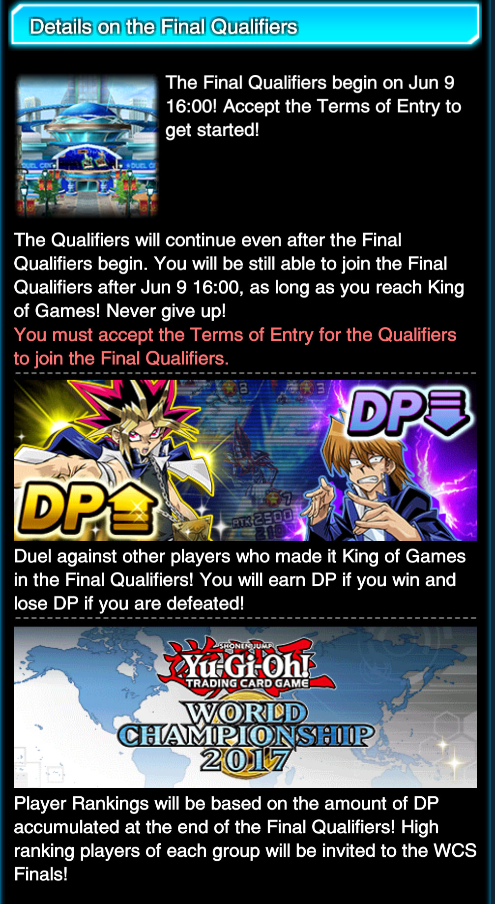 duel links world championship 2017 qualifier details beyond the