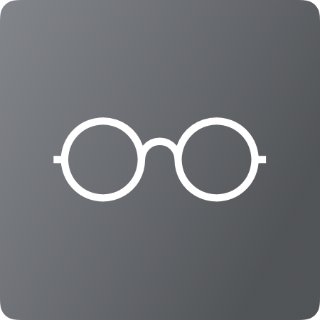 Picture of white glasses on grey background