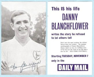 Danny Blanchflower Autobiography Card in the Daily Mail (1961)