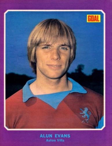 Alun Evans, Aston Villa 1973-2