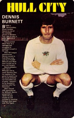 Dennis Burnett, Hull City 1971