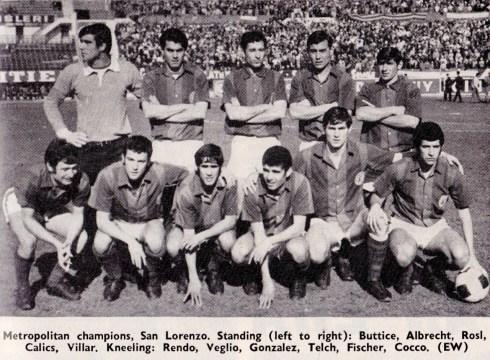 San Lorenzo, 1968