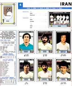World Cup 1978 Iran 1